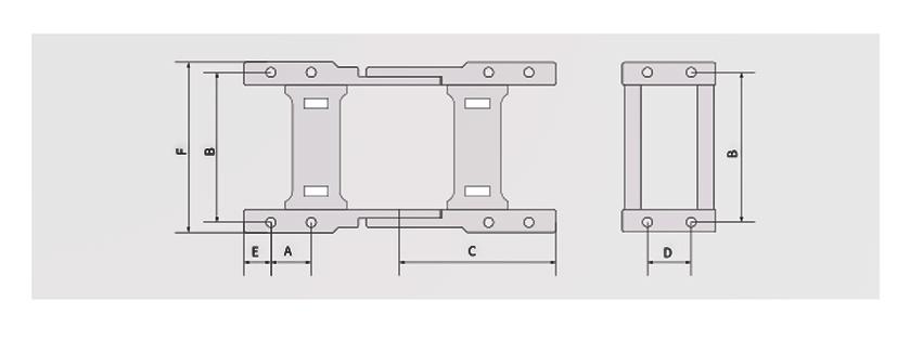 45高负载型拖链接头安装方式